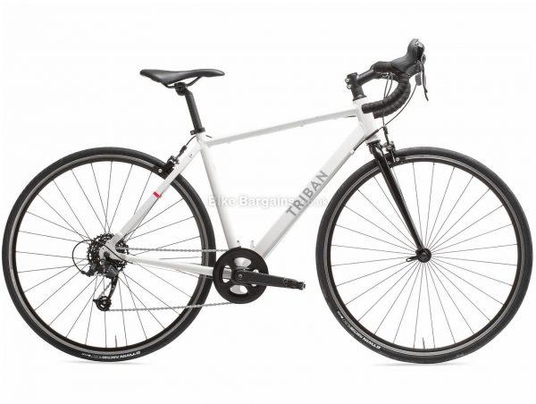 B'twin Triban Ladies Easy Alloy Road Bike XS,S,M,L, White, Alloy Frame, 700c Wheels, 10.8kg, 8 Speed, Caliper Brakes, Single Chainring