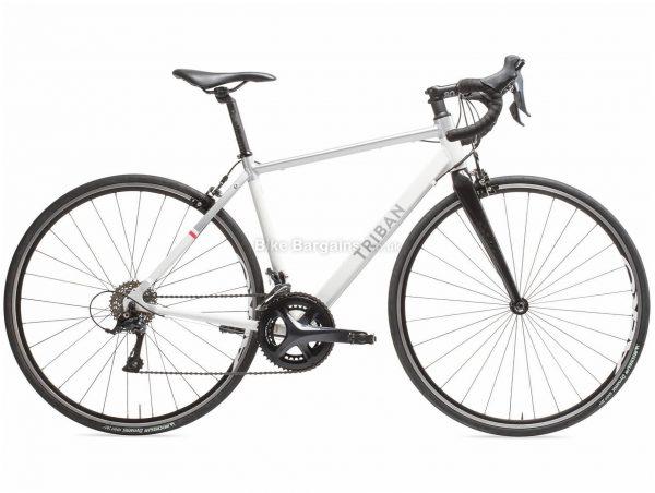 B'twin Triban Ladies Intermediate Sora Alloy Road Bike XS,S,M, White, Black, Blue, Alloy Frame, 700c Wheels, 9.95kg, 18 Speed, Caliper Brakes, Double Chainring