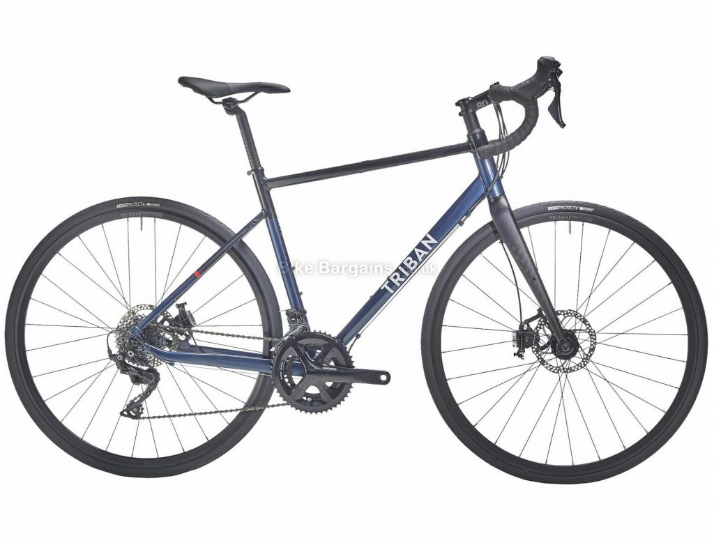 B'twin Triban Ladies RC520 105 Disc Alloy Road Bike S,M, Blue, Black, Alloy Frame, 700c Wheels, 10.4kg, 22 Speed, Disc Brakes, Double Chainring