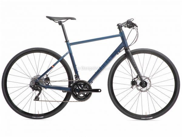 B'twin Triban RC 520 105 Flat Bar Disc Alloy Road Bike L, Blue, Black, Alloy Frame, 700c Wheels, 10.4kg, 22 Speed, Disc Brakes, Double Chainring