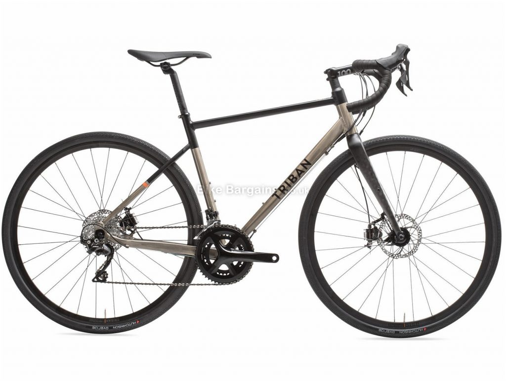 B'twin Triban RC 520 Alloy Gravel Bike XL, Brown, Black, Alloy Frame, 700c Wheels, 10.4kg, 22 Speed, Disc Brakes, Double Chainring