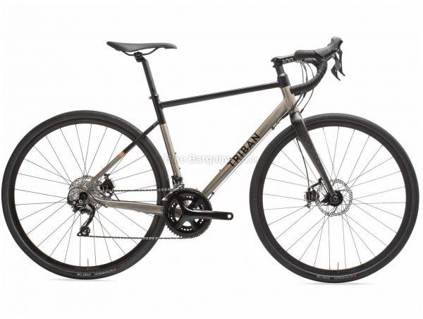 B'twin Triban RC 520 Alloy Gravel Bike XL, Brown, Black, Alloy Frame, 700c Wheels, 10.4kg, 22 Speed, Disc Brakes, Double Chainring