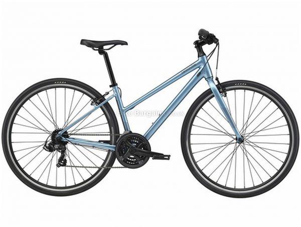 Cannondale Quick 6 Remixte Alloy City Bike 2021 L, Blue, Alloy frame, 21 Speed, 700c wheels, Caliper Brakes, Triple Chainring, Rigid Frame