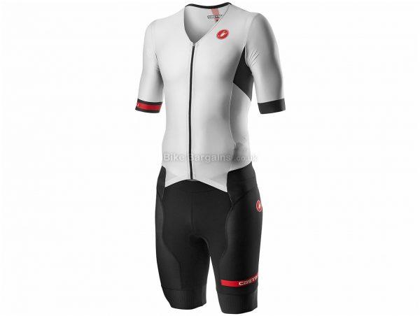 Castelli Free Sanremo 2 Short Sleeve Triathlon Speed Suit 2020 XL, Black, Blue, Men's, Short Sleeve, 218g, Polyester, Elastane