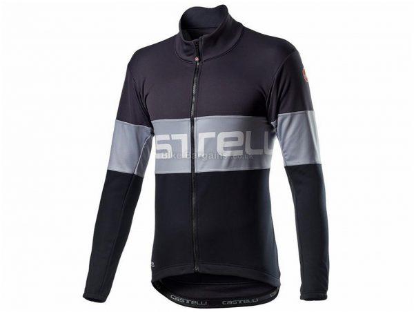Castelli Prologo Jacket 2020 S,M,L,XXXL, Grey, Orange, Blue, White, Red, Men's, Long Sleeve, 412g, Polyester, Fleece, Elastane