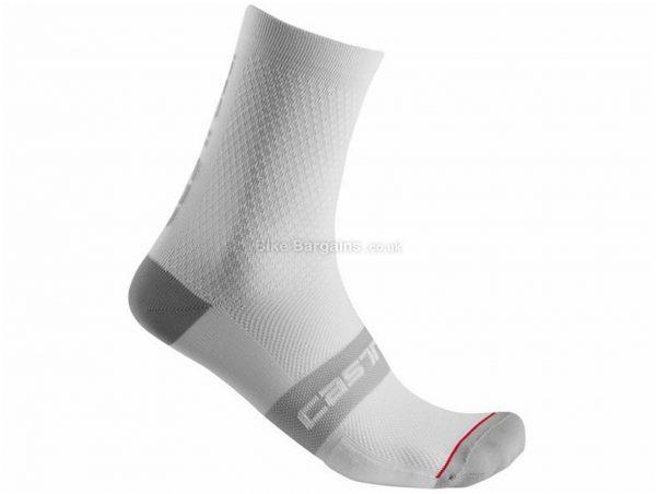 Castelli Superleggera 12 Socks 2020 S,M, White, Black, Red, Yellow, Men's, Polypropylene