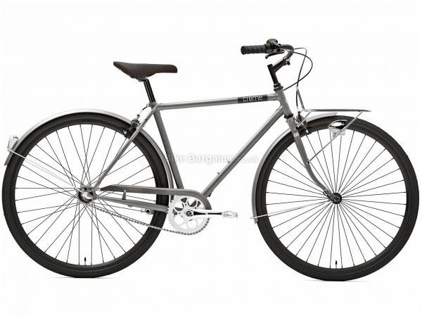 Creme Caferacer Man Solo Urban Steel City Bike 2020 S, Silver, Steel Frame, 700c Wheels, 14.8kg, 7 Speed, Caliper Brakes, Rigid Frame, Single Chainring
