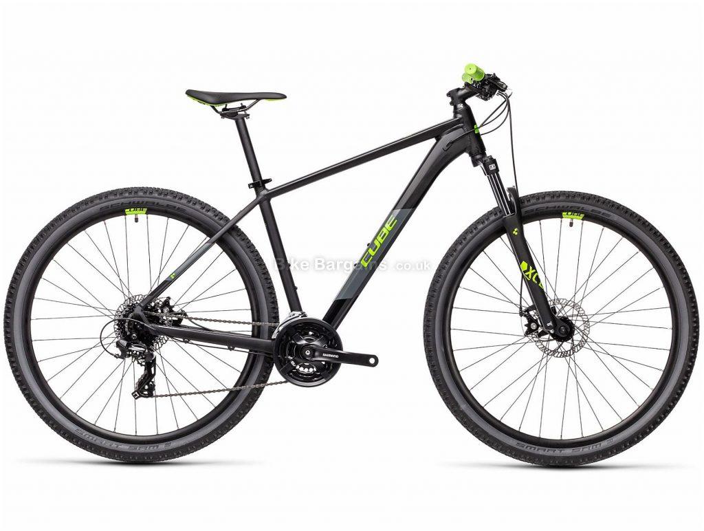"Cube Aim 27.5 Alloy Hardtail Mountain Bike 2021 14"",16"", Black, Green, Blue, Orange, Alloy Frame, 27.5"" wheels, 24 Speed, Disc Brakes, Triple Chainring, Hardtail, Suspension, 14.7kg"