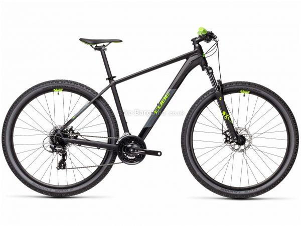 "Cube Aim 29 Alloy Hardtail Mountain Bike 2021 17"", Black, Green, Blue, Orange, Alloy Frame, 29"" wheels, 24 Speed, Disc Brakes, Triple Chainring, Hardtail, Suspension, 14.7kg"
