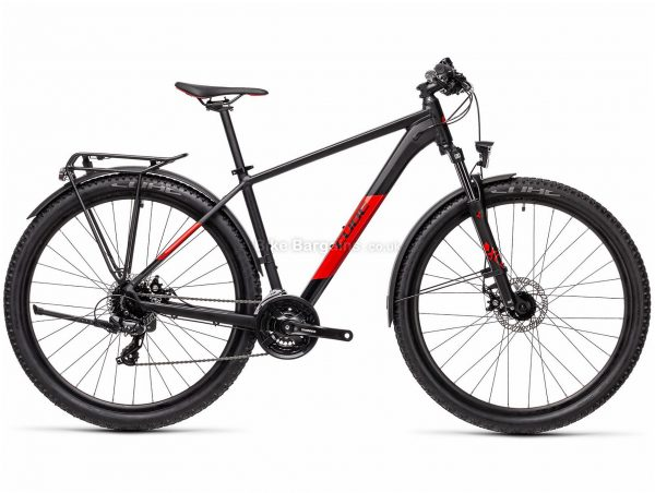 """Cube Aim 29 Allroad Alloy Hardtail Mountain Bike 2021 19"""",21"""", Black, Red, Turquoise, Alloy Frame, 29"""" wheels, 24 Speed, Disc Brakes, Triple Chainring, Hardtail, Suspension, 17.1kg"""