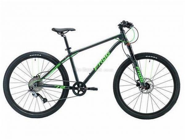 "Frog 72 26"" Kids Alloy Hardtail Mountain Bike 2020 16"", Black, Red, Alloy Frame, 26"" Wheels, Disc Brakes, 9 Speed, Single Chainring, Hardtail, Suspension Forks, 11.5kg"