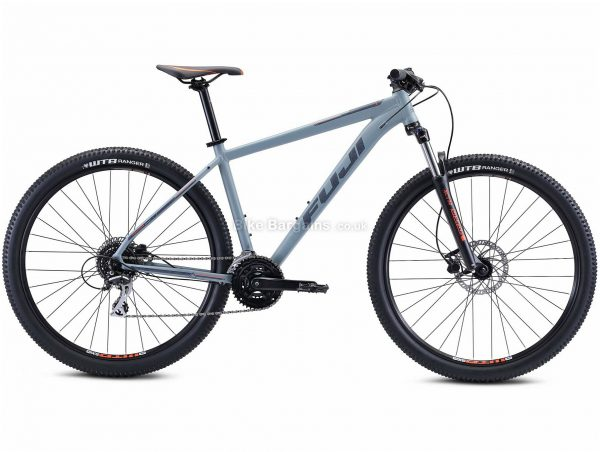 "Fuji Nevada 29 1.7 Alloy Hardtail Mountain Bike 2021 17"", Grey, Alloy Frame, 29"" Wheels, Disc Brakes, 24 Speed, Triple Chainring, Hardtail, Suspension Forks"