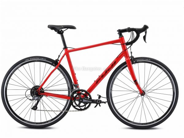 Fuji Sportif 2.3 Alloy Road Bike 2021 56cm, Red, Alloy Frame, 700c Wheels, Caliper Brakes, 16 Speed, Double Chainring