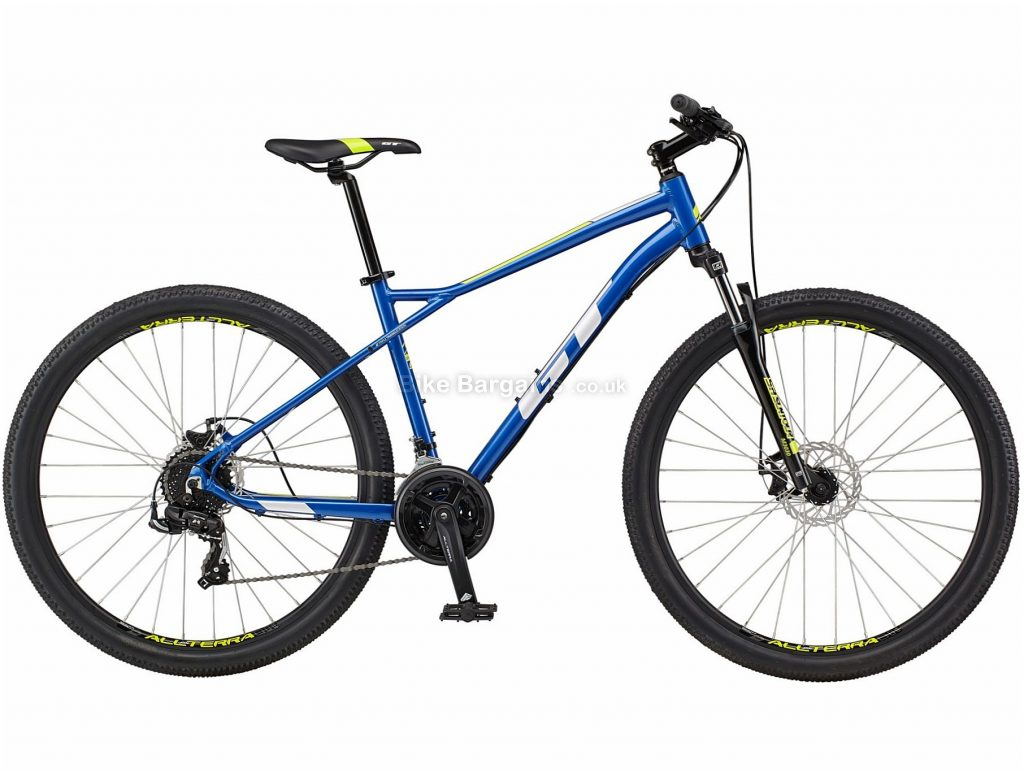 """GT Aggressor Sport Alloy Hardtail Mountain Bike 2021 S,M,L,XL, Blue,Red, Alloy Frame, 27.5"""", 29"""" Wheels, Disc Brakes, 21 Speed, Triple Chainring, Hardtail, Suspension Forks"""