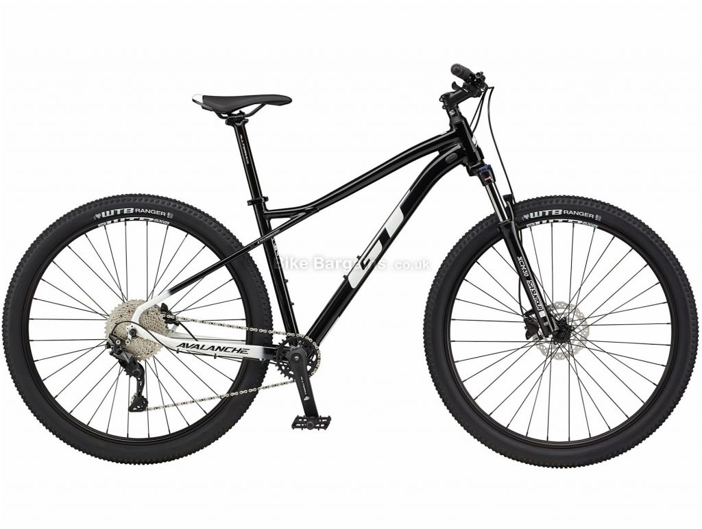 "GT Avalanche Comp Alloy Hardtail Mountain Bike 2021 M, Black, Alloy Frame, 27.5"", 29"" Wheels, Disc Brakes, 10 Speed, Single Chainring, Hardtail, Suspension Forks"