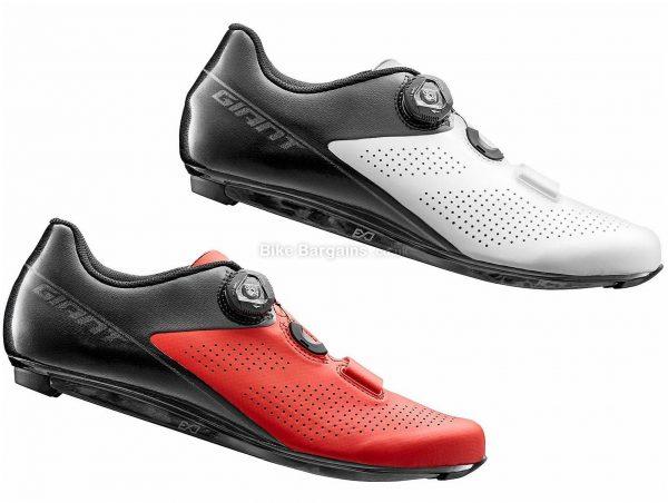 Giant Surge Elite Road Shoes 40, Red, Black, Boa, & Velcro Fastening, 315g, Carbon, Fibreglass, Velcro