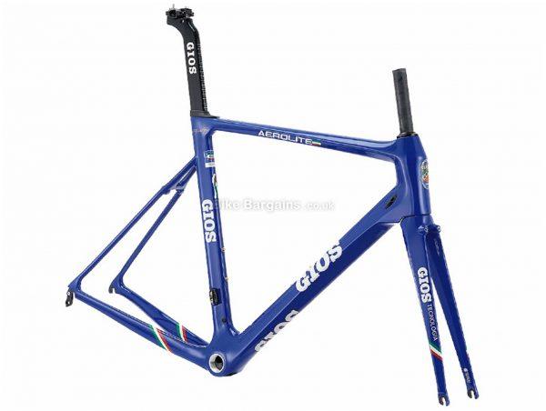 Gios Aero Lite Team Edition Carbon Road Frame 52cm, Blue, 1.34kg, Carbon Frame, 700c wheels, Caliper Brakes