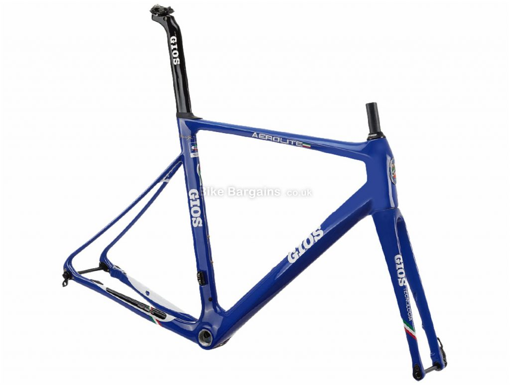 Gios Aero Lite Team Edition Disc Carbon Road Frame 48cm,50cm,52cm,54cm,56cm, Blue, 1.48kg, Carbon Frame, 700c wheels, Disc