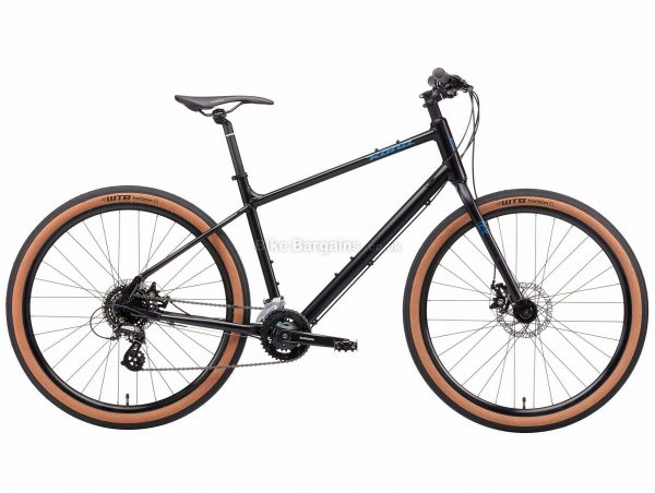 Kona Dew Alloy City Bike 2021 XL, Black, Alloy Frame, 650c Wheels, Disc Brakes, 24 Speed, Triple Chainring