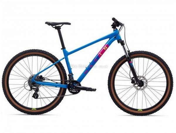 """Marin Bobcat Trail 3 29"""" Alloy Hardtail Mountain Bike 2021 M, Black, Blue, Alloy Frame, 27.5"""" or 29"""" Wheels, 16 Speed, Disc Brakes, Hardtail Frame, Front Suspension, Double Chainring"""