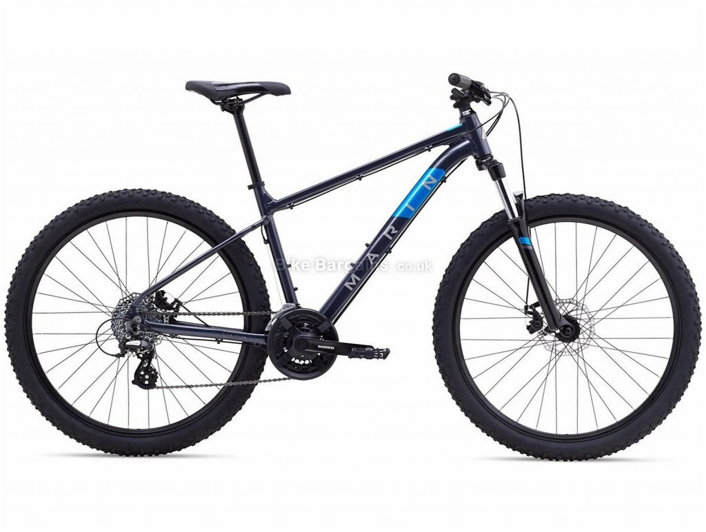 "Marin Bolinas Ridge 2 27.5"" Alloy Hardtail Mountain Bike 2021 XS,S,M,L,XL, Black, Grey, Alloy Frame, 27.5"" or 29"" Wheels, 24 Speed, Disc Brakes, Hardtail Frame, Front Suspension, Triple Chainring"