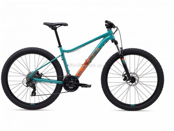 """Marin Wildcat Trail 1 27.5"""" Ladies Alloy Hardtail Mountain Bike 2021 13"""",15"""",17"""",19"""", Turquoise, Grey, Alloy Frame, 27.5"""" Wheels, 21 Speed, Disc Brakes, Hardtail Frame, Front Suspension, Triple Chainring"""