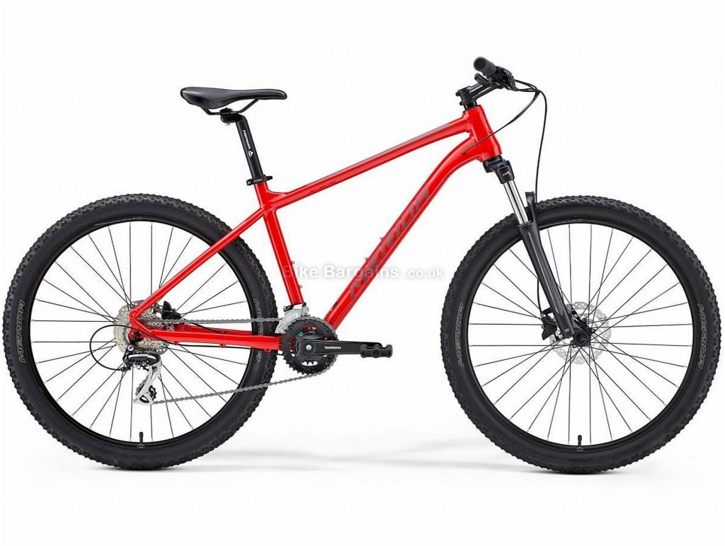 """Merida Big Seven 20 Alloy Hardtail Mountain Bike 2021 13"""",15"""",17"""",19"""", Red, Black, Silver, Alloy Frame, 27.5"""" Wheels, Disc Brakes, 16 Speed, Double Chainring, Hardtail, Suspension Forks, 15.2kg"""