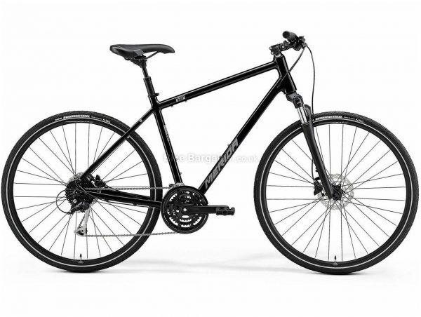 Merida Crossway 100 Alloy City Bike 2021 S,M,L, Black, Silver, Blue, Alloy Frame, 700c wheels, 27 Speed, Disc Brakes, Triple Chainring, Suspension