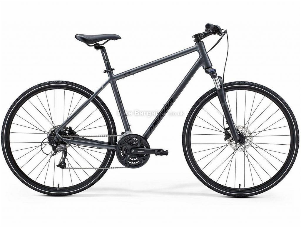 Merida Crossway 40 Alloy City Bike 2021 S,M,L, Red, Grey, Black, Alloy Frame, 700c Wheels, 27 Speed, Disc Brakes, Hardtail Frame, Front Suspension, Triple Chainring