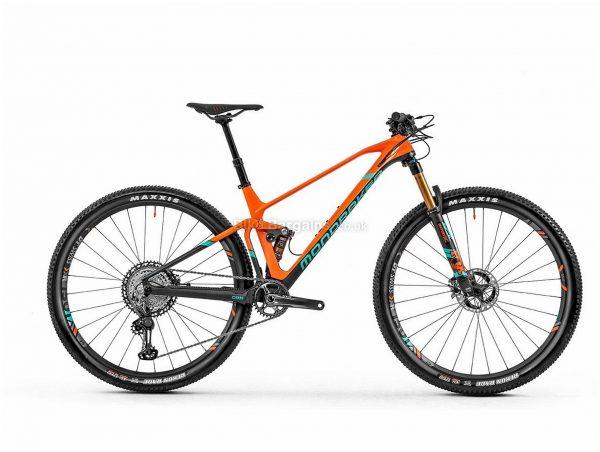 "Mondraker F-Podium DC Carbon RR 29"" Full Suspension Mountain Bike 2020 L, Orange, Grey, Green, Men's, 12 Speed, Carbon Frame, 29"" wheels, Single Chainring, Disc Brakes, Full Suspension"