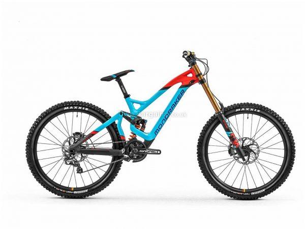 "Mondraker Summum Carbon Pro Team 27.5"" Downhill Full Suspension Mountain Bike 2020 M, Blue, Red, Black, Men's, 10 Speed, Carbon Frame, 27.5"" wheels, Single Chainring, Disc Brakes, Full Suspension"