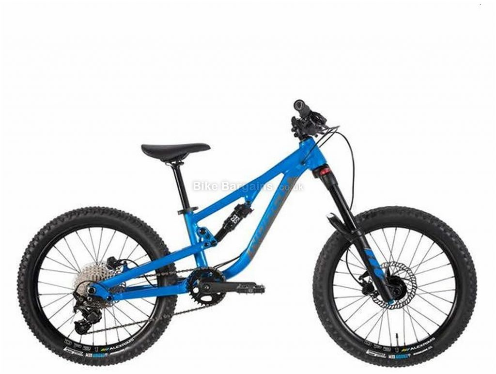 """Norco Fluid 20"""" 2 Carbon Full Suspension Kid's Mountain Bike 2020 One Size, Blue, 10 Speed, Alloy Frame, 20"""" wheels, Single Chainring, Disc Brakes, Full Suspension"""