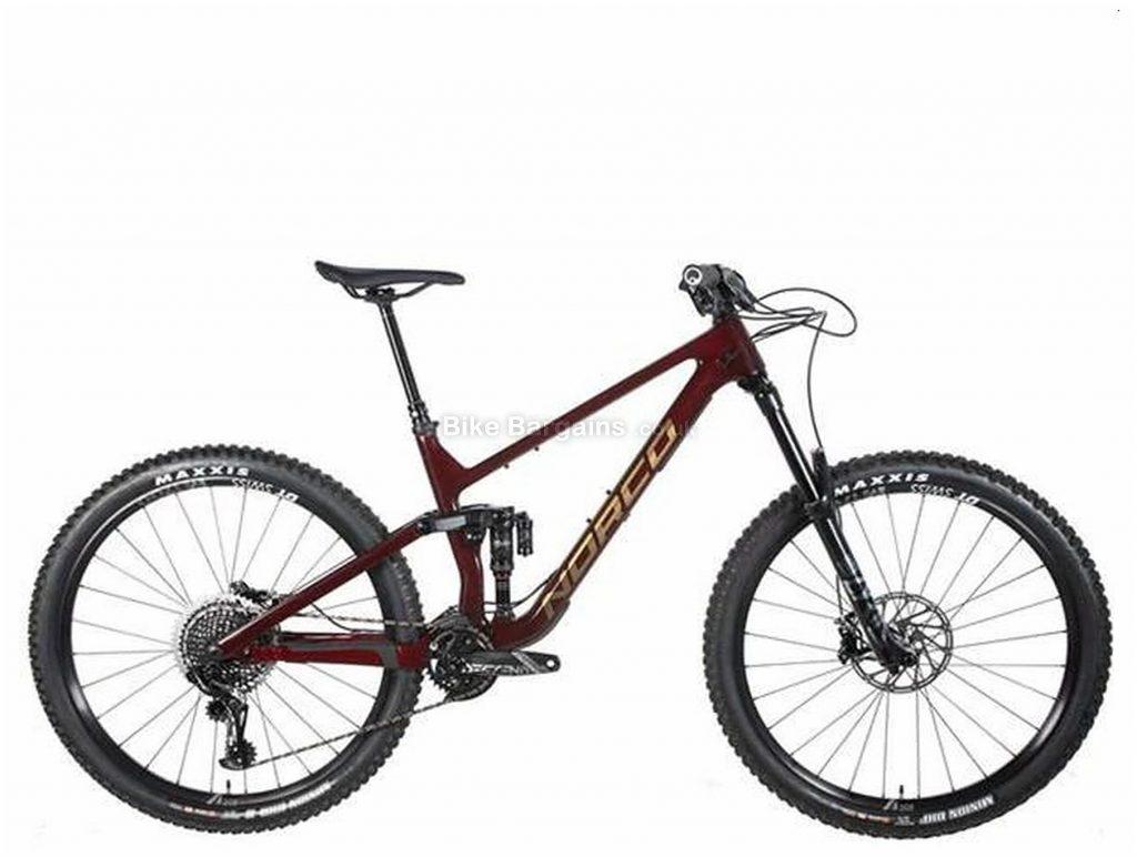 "Norco Sight C1 29 Carbon Full Suspension Mountain Bike 2020 M, Red, Black, 14.6kg, Men's, 12 Speed, Carbon Frame, 29"" wheels, Single Chainring, Disc Brakes, Full Suspension"