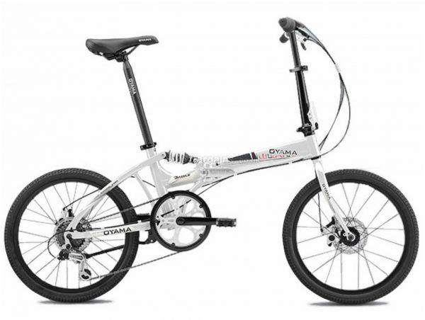 "Oyama Dazzle M300D Alloy Folding City Bike M, White, Alloy Frame, 20"" Wheels, 6 Speed, Disc Brakes, Suspension Frame, Single Chainring"