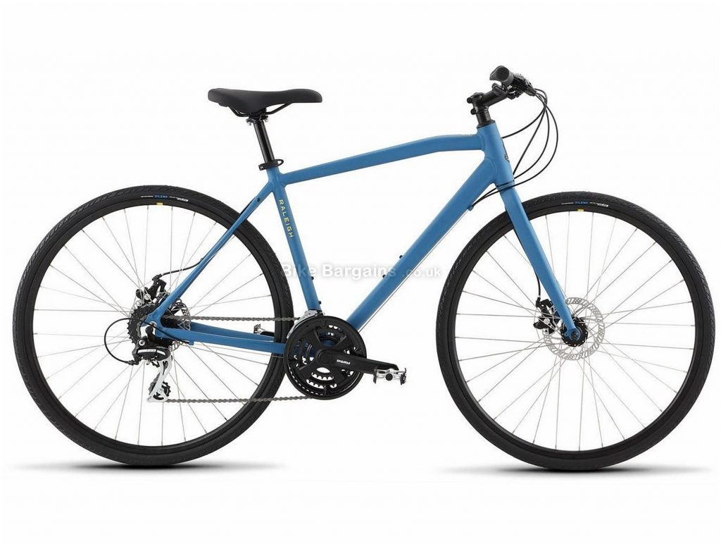 Raleigh Cadent 2 Alloy City Bike 2020 S,M,L,XL, Grey, Blue, Alloy Frame, 700c Wheels, Disc Brakes, 24 Speed, Triple Chainring, 15.5kg