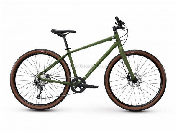 "Raleigh Redux 2 27.5"" Alloy City Bike 2020 S,M,L,XL, Green, Alloy Frame, 27.5"" Wheels, 9 Speed, Disc Brakes, Rigid Frame, Single Chainring"