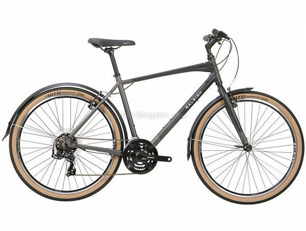 "Raleigh Strada 27.5"" Alloy City Bike 2021 16"",18"",20"",22"", Grey, Alloy Frame, 27.5"" wheels, 21 Speed, Caliper Brakes, Triple Chainring, Rigid"