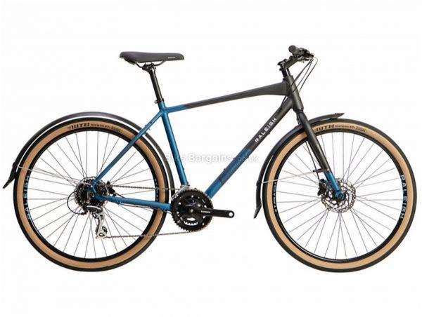 "Raleigh Strada City Crossbar Frame Alloy City Bike 2021 S,M,L,XL, Black, Blue, Alloy frame, 16 Speed, 27.5"" wheels, 12kg, Disc Brakes, Double Chainring, Rigid Frame"