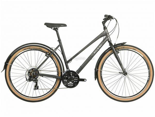 "Raleigh Strada Ladies 27.5"" Alloy City Bike 2021 19"", Grey, Alloy Frame, 27.5"" wheels, 21 Speed, Caliper Brakes, Triple Chainring, Rigid"
