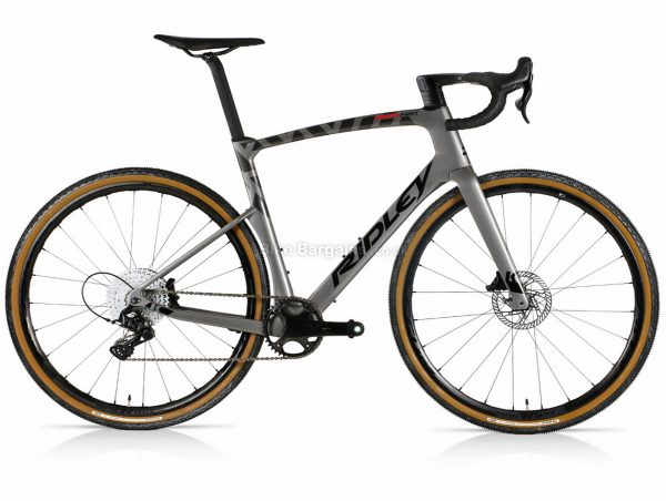Ridley Kanzo Fast Ekar Aero Carbon Gravel Bike S, Grey, Carbon Frame, 13 Speed, 700c Wheels, Disc Brakes, Single Chainring