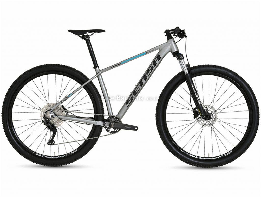 """Sensa Livigno Evo Tour Alloy Hardtail Mountain Bike 2021 15"""",17"""",19"""", Silver, Black, Alloy Frame, 29"""" Wheels, 10 Speed, Disc Brakes, Hardtail Frame, Front Suspension, Single Chainring"""