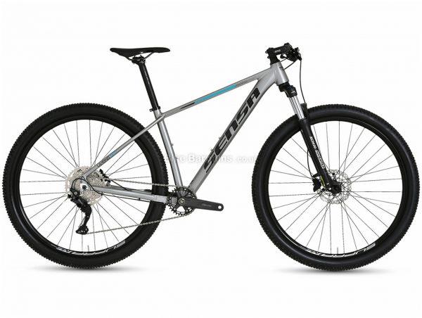 """Sensa Livigno Evo Tour Alloy Hardtail Mountain Bike 2021 19"""", Silver, Black, Alloy Frame, 29"""" Wheels, 10 Speed, Disc Brakes, Hardtail Frame, Front Suspension, Single Chainring"""