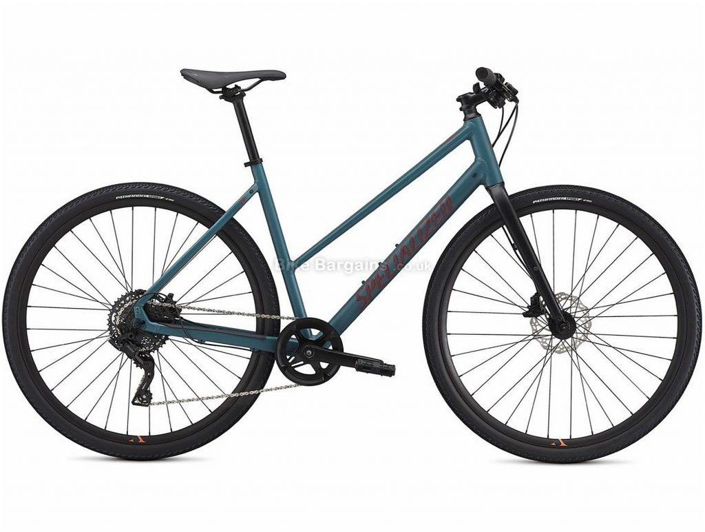 Specialized Sirrus X 2.0 Step Through Ladies Alloy City Bike 2021 XS, Turquoise, Grey, Black, Alloy Frame, 700c Wheels, Disc Brakes, 8 Speed, Single Chainring