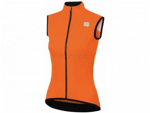 Sportful Fiandre Light NoRain Ladies Gilet S,XL, Orange, Green, Ladies, Sleeveless, Polyester, Elastane