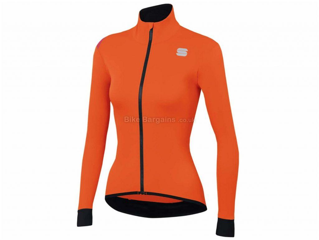 Sportful Fiandre Light NoRain Ladies Jacket M,XL, Green, Orange, 190g, Polyester, Elastane, Long Sleeve