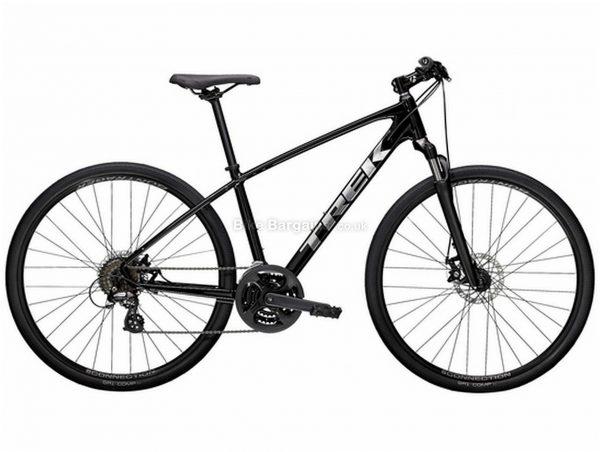 Trek Dual Sport 1 Alloy City Bike 2021 M, Black, Alloy frame, 21 Speed, 700c wheels, Disc Brakes, Triple Chainring, Hardtail Frame, Suspension Fork