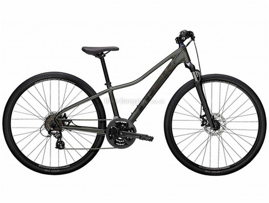 Trek Dual Sport 1 Ladies Alloy City Bike 2021 L, Grey, Alloy frame, 21 Speed, 700c wheels, Disc Brakes, Triple Chainring, Hardtail Frame, Suspension Fork