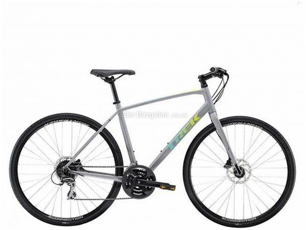 Trek FX 2 Disc Alloy City Bike 2021 L, Grey, Alloy Frame, 700c wheels, 24 Speed, Disc Brakes, Triple Chainring, Rigid