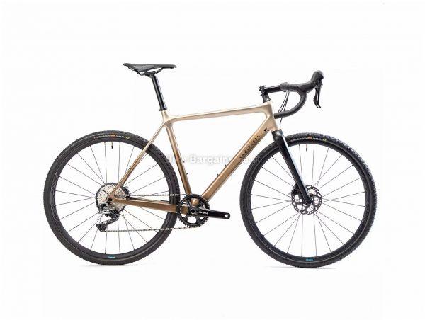 Van Rysel EDR CF GRX Carbon Gravel Bike S, Brown, Black, Carbon frame, 11 Speed, 700c wheels, 8.8kg, Disc Brakes, Single Chainring, Rigid Frame