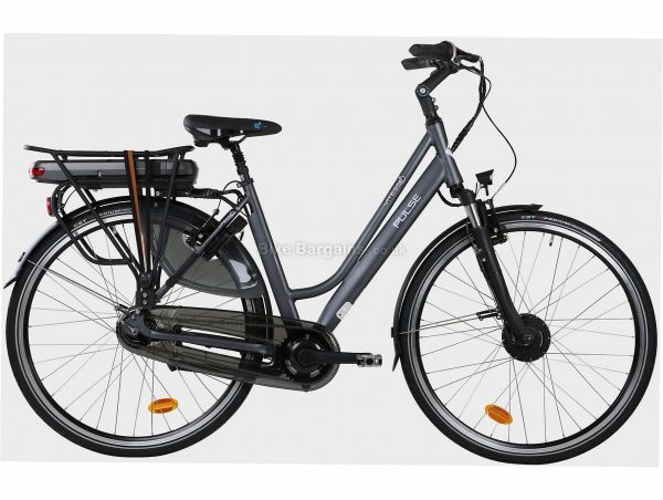 Vitesse Ladies Pulse Alloy Electric Bike M, Grey, Alloy Frame, 700c wheels, 7 Speed, Caliper Brakes, Single Chainring, Suspension, 21.5kg